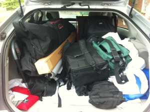 Ryan David Jackson Photographers gear ready for 8 senior portraits shoots in 2 days in Wilmington, NC